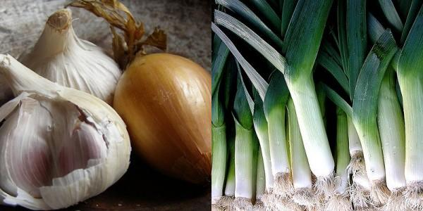 Onions, Garlic and Leeks