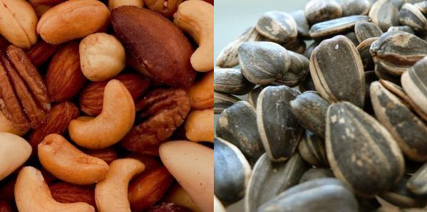 Mixed Nuts and Sunflower Seeds