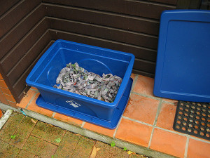 blue-bin-with-shredded-news-paper